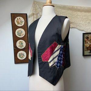 Vtg Handmade Patchwork Vest